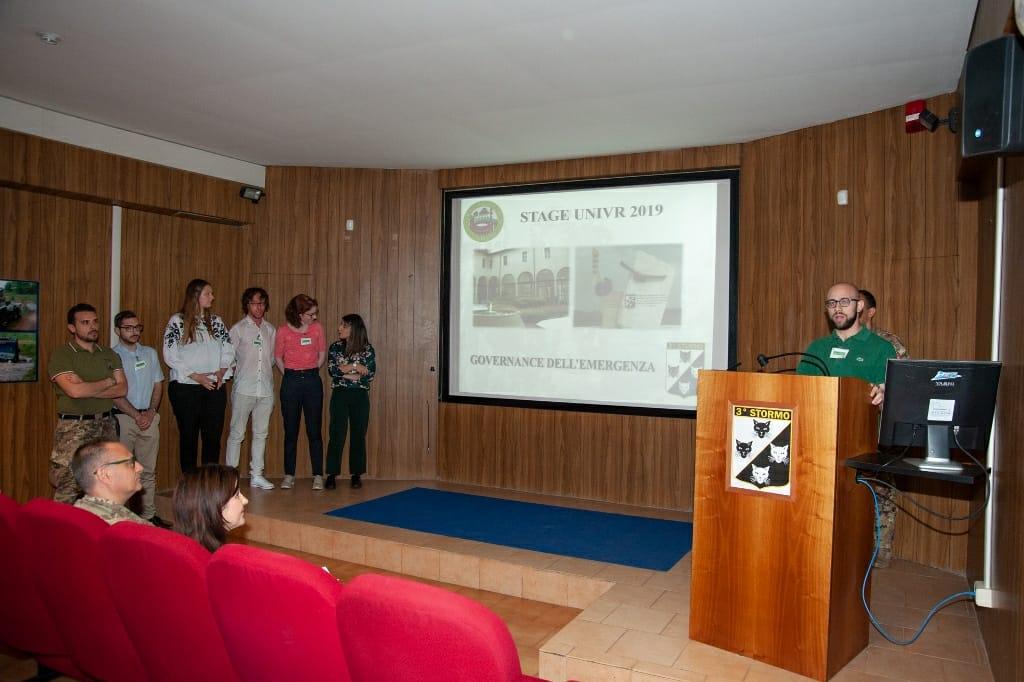 Si è concluso per sette studenti dell'Università di Verona lo stage alla base Caluri del 3° Stormo.