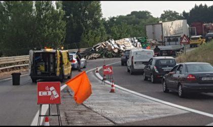 Transpolesana, traffico in tilt per un incidente nel tratto finale veronese