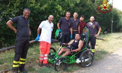 Escursionista disabile cade sulle colline della Valpolicella