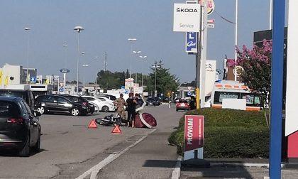 Cade con la moto, ferito un uomo a San Pietro di Legnago