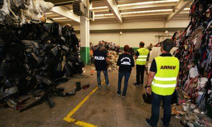 Rischio incendio doloso, polizia monitora centro stoccaggio rifiuti a San Martino Buon Albergo