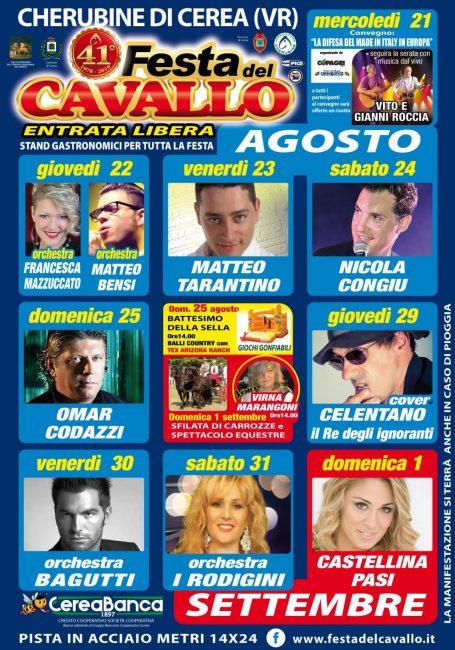 Calendario Serate Orchestra Bagutti.Festa Del Cavallo Al Via Stasera La Storica Manifestazione