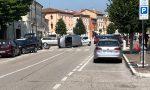 Cologna Veneta: auto ribaltata in centro