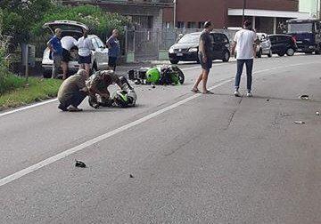 Scontro tra auto e moto a Legnago: grave il centauro FOTO