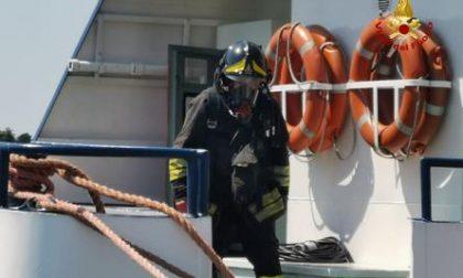 Incendio sul traghetto, paura sul Lago di Garda