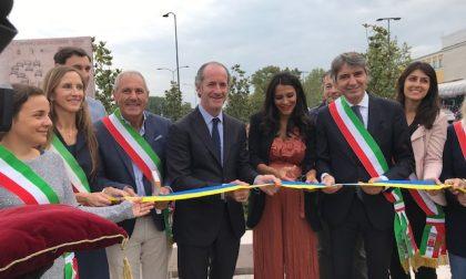 Inaugurata la Pink Bench davanti alla stazione di Verona