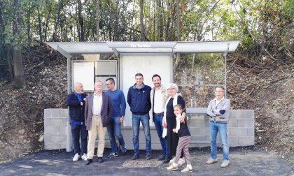 Pensilina nuova in via Turbina per la sicurezza alla fermata del bus