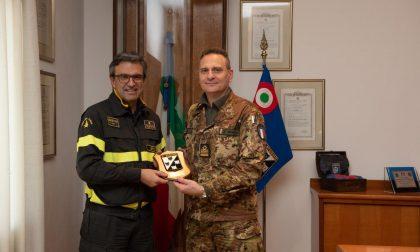 Il Comandante dei Vigili del Fuoco di Verona in visita al 3° Stormo