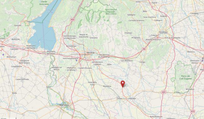 Tre scosse di terremoto avvertite nella Bassa veronese