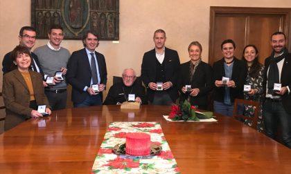 Sindaco e giunta dal Vescovo per gli auguri di Natale