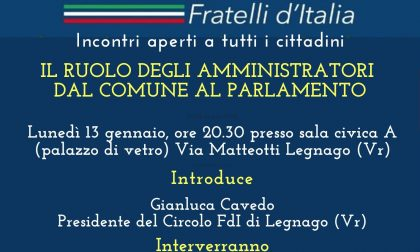 Fratelli d'Italia Legnago, al via gli incontri di formazione mensili