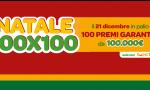 """""""Natale 100×100"""" di SuperEnalotto SuperStar ha assegnato 100 premi da 100 mila euro, ecco a chi"""