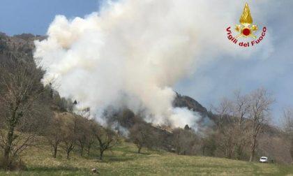 """Vasto incendio al confine col Veronese: """"Spegnimento finirà domani"""" – VIDEO"""