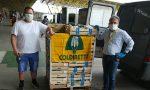 Coldiretti ha consegnato della verdura in soccorso al circo fermo a Sommacampagna