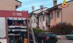 Auto in fiamme nel garage, ingenti danni alla villetta a schiera a Cerea