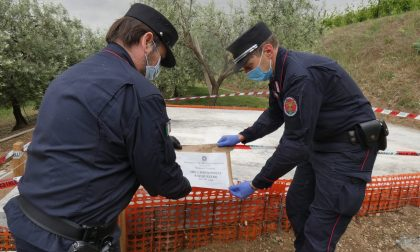 Carabinieri forestali sequestrano manufatto abusivo in un oliveto