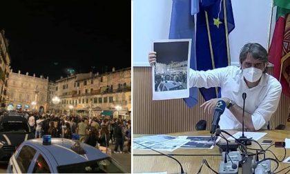 """Sboarina: """"Piazza Erbe? Una latrina. Da oggi sarà vietato consumare bevande alcoliche all'aperto"""""""