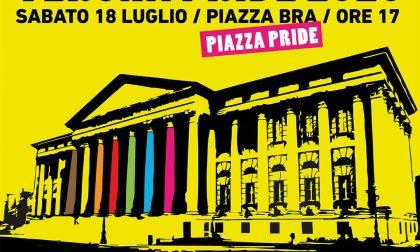 """""""Verona Pride 2020"""", la manifestazione in Piazza Bra in risposta alla mozione Bacciga"""
