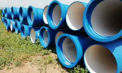 Cantieri delle nuove condotte per portare acqua pulita nelle zone contaminate dai Pfas