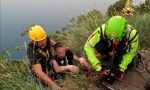 Tragedia sfiorata nella notte sulla Rocca del Garda, giovane escursionista scivola: salvato prima del dirupo