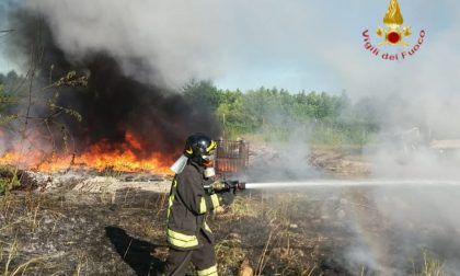 Incendi di sterpaglie e legnaie, distrutte rotoballe di fieno e salvati animali vicini al rogo