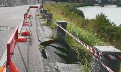 Cedimento Lungadige Attiraglio: strada chiusa altri due giorni per lavori di ripristino