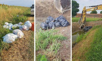 Incivile abbandona numerosi rifiuti nei fossi di Angiari, è stato rintracciato