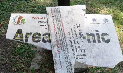 Parco Valle del Menago: cartelli distrutti e cestini rovesciati, installate le telecamere per individuare i vandali
