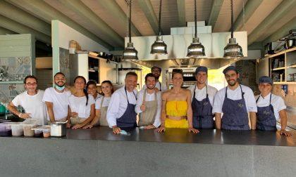 Michelle Hunziker arrivata in Sicilia con la famiglia sceglie di pranzare dallo chef Giancarlo Perbellini