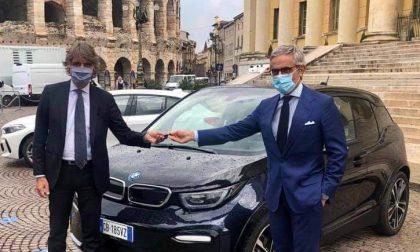 """In Comune arriva la prima auto completamente elettrica, Sboarina: """"Mobilità sostenibile ad impatto zero"""""""
