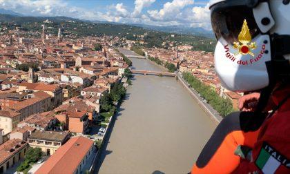Proseguono le ricerche dei due uomini dispersi nell'Adige FOTO E VIDEO