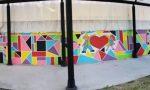 Un grande murales fatto dai bambini per donare un sorriso e amore