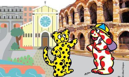 La Pimpa arriva a Verona, una guida della città a misura di bambino