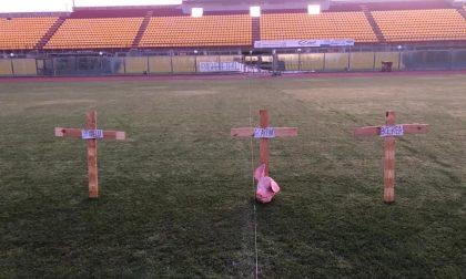 Croci e testa di maiale in campo: intimidazione dopo cessione della società di calcio