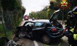 Incidente a Bardolino: 66enne finisce contro un muretto e rimane incastrato nell'auto