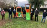 Nuovi giochi al parco Cadidavid, dono per i risultati raggiunti con il riciclo dei pannolini usati