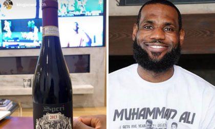 La star dell'NBA LeBron James sceglie l'Amarone Speri e lo posta su Instagram