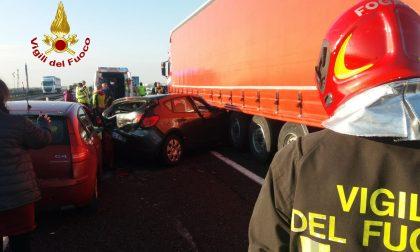 Doppio incidente in A4 tra Montecchio e Montebello: cinque feriti – FOTO