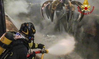 Incendio rifiuti in un termovalorizzatore di Cà del Bue FOTO E VIDEO