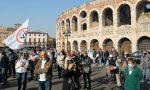 "Quasi 400 persone alla manifestazione ""no vax"" in Piazza Bra"