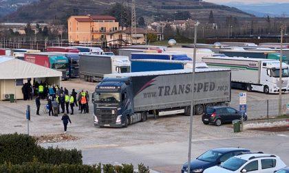 Il punto tamponi drive-in di Aquardens per i camionisti si sposta ad Affi