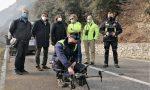 Caduta massi sulla Sp 11: sopralluogo con il drone
