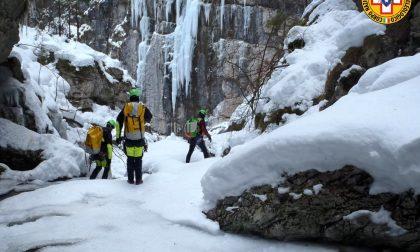 Gruppo forre del Soccorso alpino e speleologico, addestramento al Vajo delle Scalucce