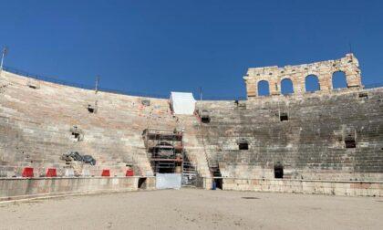 Proseguono i lavori di restauro dell'Arena, sigillate anche le fessure fra le pietre