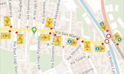 Ponte di Via San Marco chiuso al traffico per lavori di messa in sicurezza, viabilità modificata