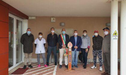 Fidas Vallese ha donato 7 colonnine porta gel igienizzante alla comunità