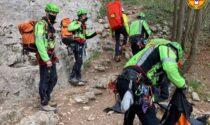 Freeclimber precipita nella palestra di roccia, è in gravi condizioni