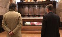 Sboarina in visita alla basilica di San Zeno con l'abate per ricordare il protettore della città