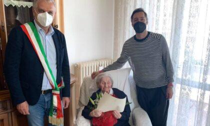 Gli auguri del sindaco di Legnago a nonna Gina per i suoi 100 anni