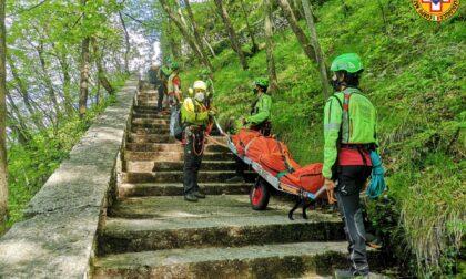 Precipita dal sentiero del Santuario Madonna della Corona: 67enne morto sotto gli occhi della moglie